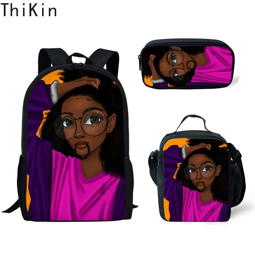 Travel Rucksack Canvas Boys Girls Retro School Backpack Horse Print  Pencil Case