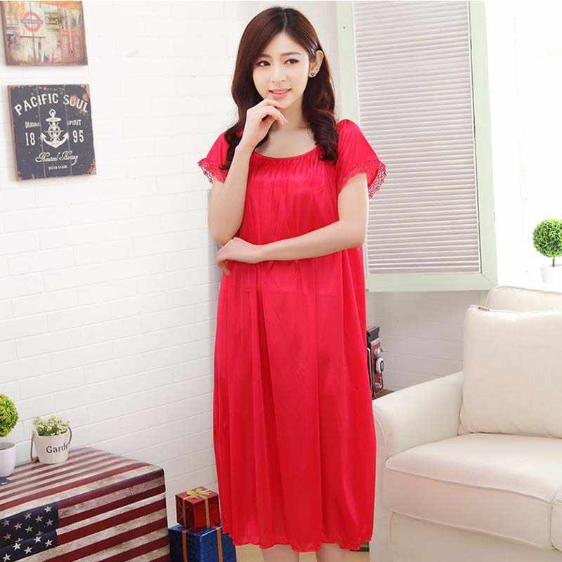 54f6243bb Maternity clothes sleepwear nightdress long silk nightgowns pajamas for pregnant  women nightclothes maternal pajama plus size
