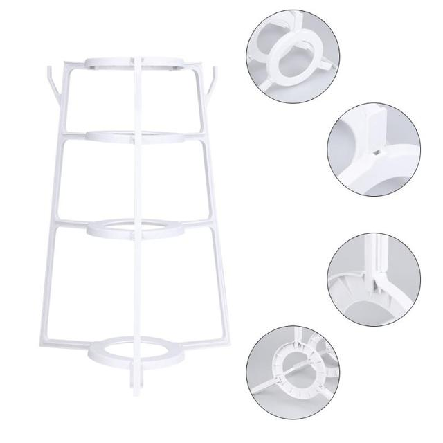 4 Layers Plastic Pot Lid Cutting Board Shelf Dish Rack Holder Kitchen  Organizer Pan Cover Lid