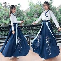 Hanfu Mulheres Women Plum Hanfu Costume Dress Fairy Skirt Fresh and Elegant Huaqing Pavilion Hanfu Clothing Chinese Style