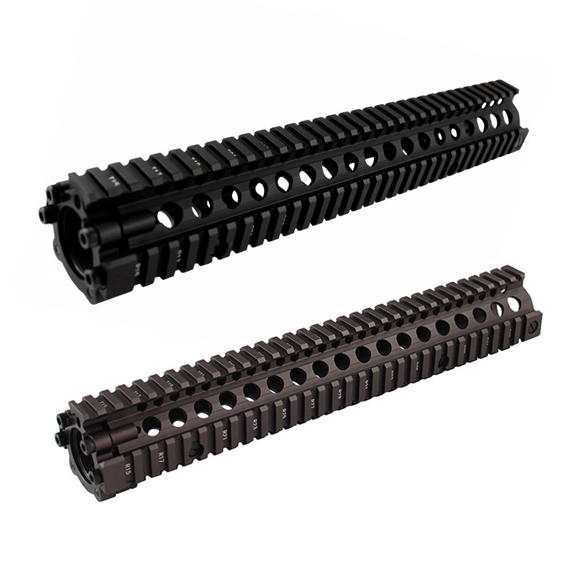 Hunting accessories aluminum fission 12 7 inch picatinny rail MK style handguard rail For Airsoft AEG