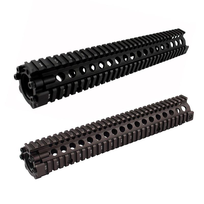Accessoires de chasse aluminium fission 12.7 pouces picatinny rail MK style garde-corps pour Airsoft AEG M4/M16