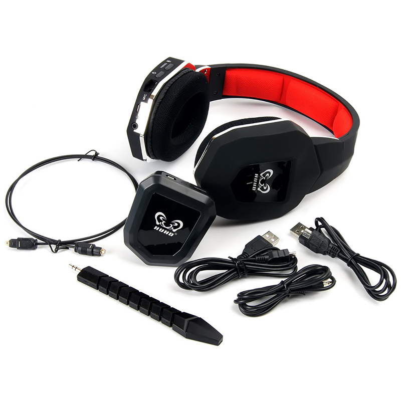 US $79 98 |HW 399 Professional Wireless Gaming Headphones Detachable  Microphone For MAC/TV/Wii/PS4/PS3/Xbox360/Xbox One Video Games Headset-in