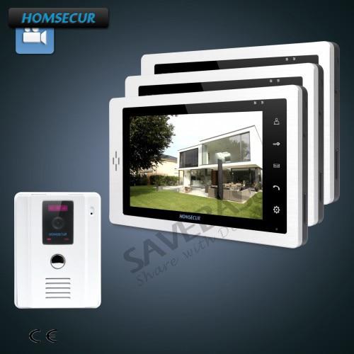 HOMSECUR 7 Hands-free Video Door Phone Intercom System with Outdoor Monitoring 1C1M