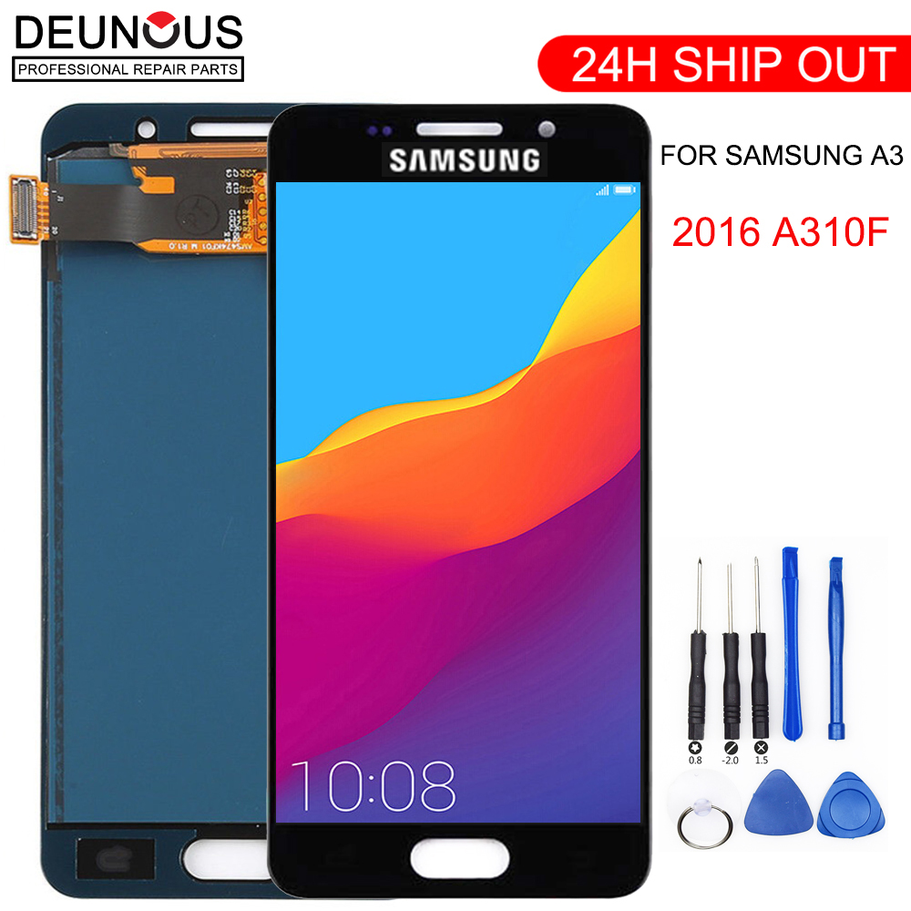 <font><b>A310F</b></font> <font><b>LCD</b></font> For <font><b>Samsung</b></font> Galaxy A3 2016 A310 <font><b>A310F</b></font> A310H A310M <font><b>LCD</b></font> Tested Display Digitizer Touch Screen Assembly image