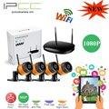 Ipcc 4ch 1080 p nvr wifi sistema de seguridad de red inalámbrica 2.0mp cámara ip Con Día Noche CMOS kit de cámara de Vigilancia remota vista