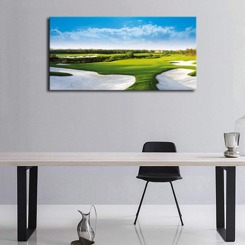 Office Pictures For Walls Golf: Aliexpress.com : Buy Green Golf Course Sand Pit Wall Art