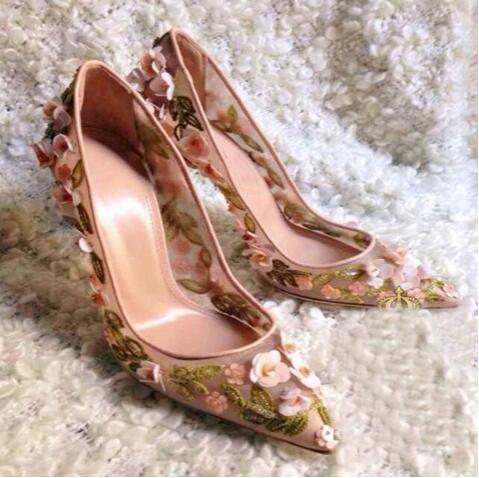 Flowers Newest Fashion Dress Shoes Cheap Price Hot Sale Concise Luxury High Heels Shoes Buckle Weeding Party Shoes Pointed Toe hot sale lt4 202h factory price cheap ce newest latest metal double pedal foot switch for bending machine punch