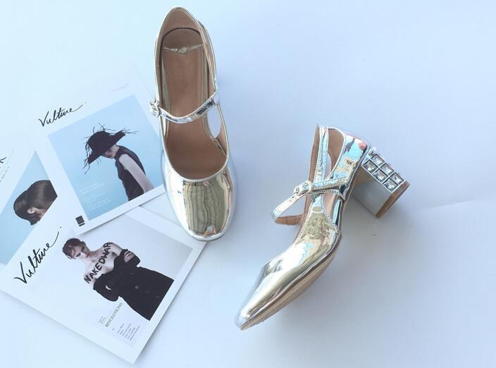 Heels Patent Schuhe Chunky Karree 5cm Schnalle 6 Janes 5cm Leder 5cm 5cm 4 6 5cm 6 High Weibliche 4 4 Retro 5cm Kristalle Ferse Neue Frauen Mary Herbst 5cm 5cm 4 2018 6 8qOZ7XZ