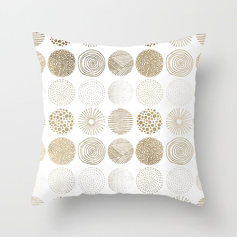 Fuwatacchi 2019 New Simple Geometric Pillow Case 45 45cm Plush Cotton Home Decor Cushion Cover Throw Pillow Covers Free Shipping in Cushion Cover from Home Garden