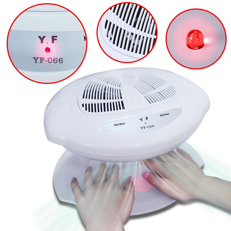 Belen Nail Smart Nail Polish Dryer Auto Induction Warm & Cool Wind Auto Sensors UV Gel Nail Polish Fan Dryer Manicure Tool auto cool