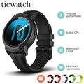 Original Neue Ticwatch E2 Smart Uhr GPS Uhr Strava Tragen OS durch Google 5ATM Wasserdichte 24hr Herz rate Monitor smartwatch Männer-in Smart Watches aus Verbraucherelektronik bei