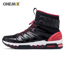 Onemix новые классные высокие сапоги для мужчин кроссовки женщин Прогулочные кроссовки ног Топ Открытый Треккинг черный, белый цвет утепленная