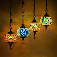 أحدث stytle تركيا الجمارك العرقية اليدوية فسيفساء مصباح رومانسية مقهى مطعم بار شجرة قلادة ضوء بار قلادة مصباح
