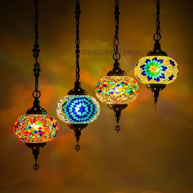 Newest Stytle Turkey Ethnic Customs Handmade Mosaic Lamp Romantic Cafe  Restaurant Bar Tree Pendant Light Bar