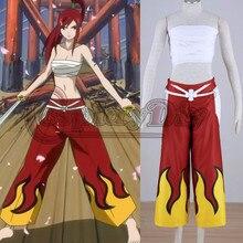 Hot Anime Fairy Tail Elza Scarlet Cosplay para Las Mujeres Carnaval de Halloween Cosplay D0408