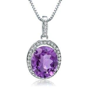 Image 5 - GEMS BALLET collar con colgante de piedras preciosas de amatista Natural para mujer, de plata de ley 925, joyería fina de piedra de nacimiento, 1.79Ct, boda