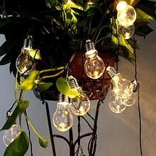 10/20 LED Outdoor Solar Powered String Light Garden Christmas Party Fairy Lamp 4M/6M Christmas Decoration Lights yingtouman 2018 battery powered yellow crack ball fairy string lamp outdoor christmas day garden party decoration light 5m 30led