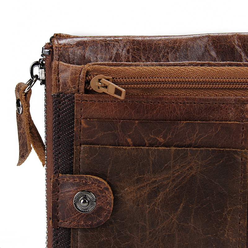 1567d5827b CONTACT S Genuine Crazy Horse Leather Men Wallet Short Coin Purse Small  Vintage Wallets Brand High Quality Designer carteira-in Wallets from  Luggage   Bags ...