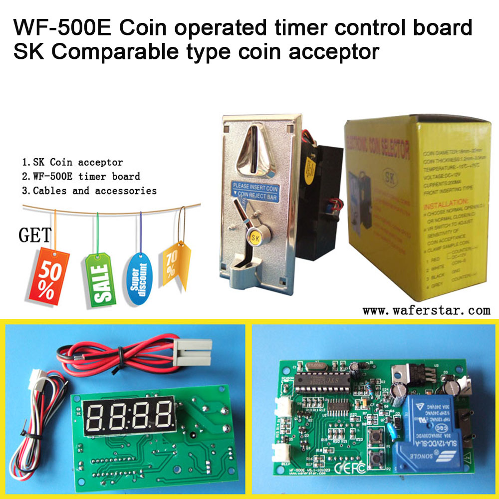 Simple Coin acceptor Operated Timer control Board for water pump washing machines massage chairs chargers Video Console