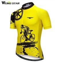 Bike team 2018 women/men yellow spandex Cycling jersey tops/short sleeve bike clothing summer style Pro MTB Bike Jersey Shirt