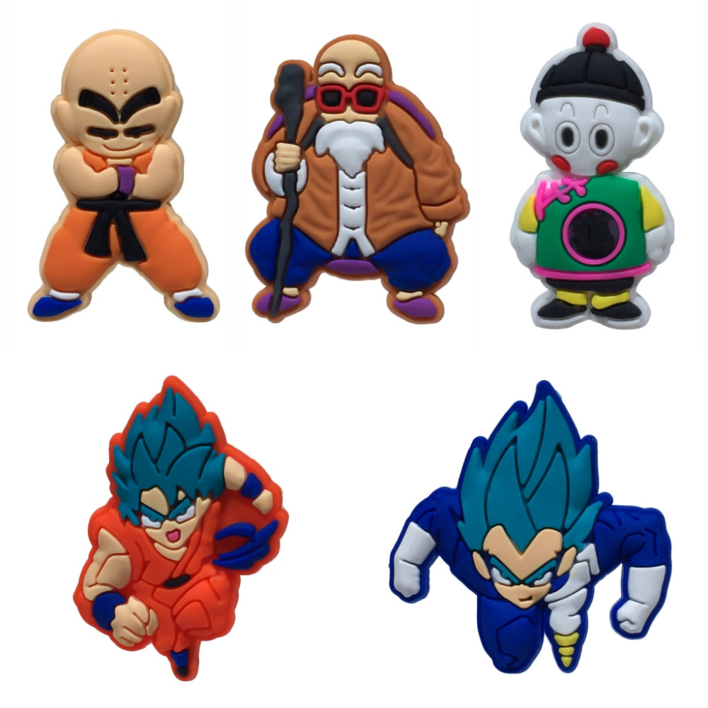 100PC Dragon Ball PVC Shoe Charms Shoe Buckle Accessories For Croc Decor For Bracelets With Holes Children Christmas Gift