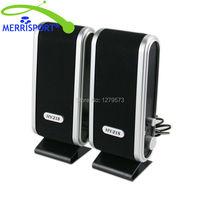 MERRISPORT USB Mini Głośniki Komputerowe 3.5 MM Głośniki Multimedialne Dla Komputery PC Laptopy Notebook Stojące Przenośne Głośniki Czarny