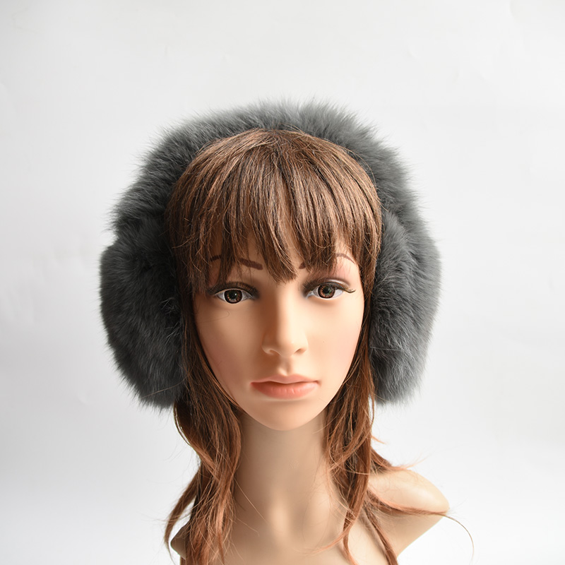 New Style Winter Real Raccoon Fur/fox Fur Earmuffs For Women Warm Unisex Ear Muffs Winter Ear Cover Winter Ear Warmers