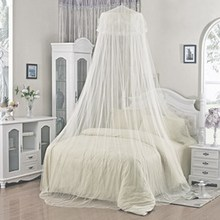 2019 Summer Insect Prevention Elegant Round White Lace Bed Canopy Dome Lace Mosquito Net For Baby Kids Bed Canopy Netting Room