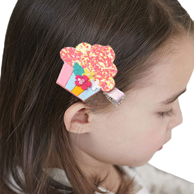 1PC Glitter Fruit Hair Clips Pineapple Watermelon Party Favors Felt Girls  Barrettes Milkshake Dessert Hairpins Hair Accessories 6a9188ae36e9