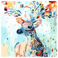 Hot sale DIY Oil Painting Paint By Number Kit Image Drawing On Canvas By Hand Coloring Arts Crafts & Sewing NEW Rainbow Deer
