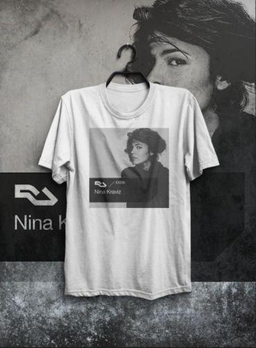 T-SHIRT MAGLIETTA NINA KRAVIZ TOP DJ TECHNO FESTIVAL UOMO DONNA RESIDENT ADVISOR Fashion T-Shirt Tee top tee Clothing T shirt