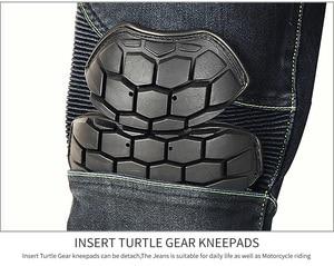 Image 3 - Pantalones vaqueros de motociclista para hombre de Riding Tribe, equipo protector para Motocross, pantalones transpirables para carreras de motos HP 11