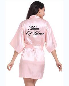 Image 3 - Personalisierte gedruckt Braut Partei Roben Brautjungfern mutter der braut bräutigam maid of honor Hochzeit Tag geschenk satin robe