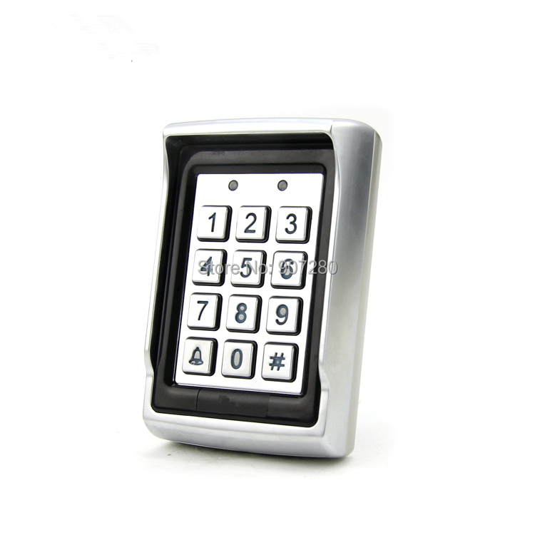 New Arrvial Metal Rain-proof Case Anti-vandal 125KHz RFID Blue Backlit Access Control Keypad with Dual Relay Output