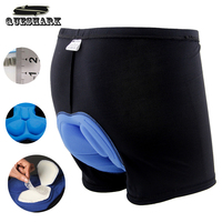 Mens 3D Silicone Gel Sponge Padded Base Layer Cycling Shorts Outdoor Riding Bicycle Fitness Underpants Bike