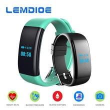 Lemdioe DF30 смарт-браслет с сердечного ритма крови Давление крови кислородом монитор фитнес трекер Браслет спортивный смарт-группа