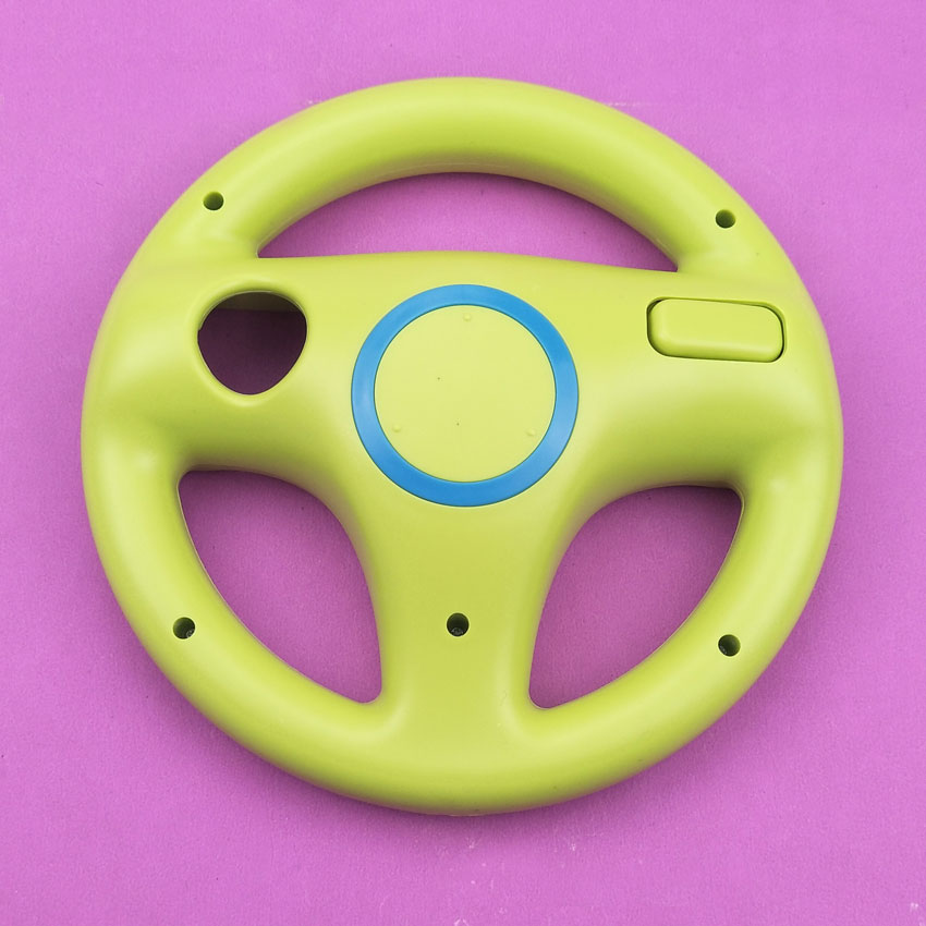 YuXi 6 colors Plastic Steering Wheel For Nintendo for Wii Kart Racing Games Remote Controller Console