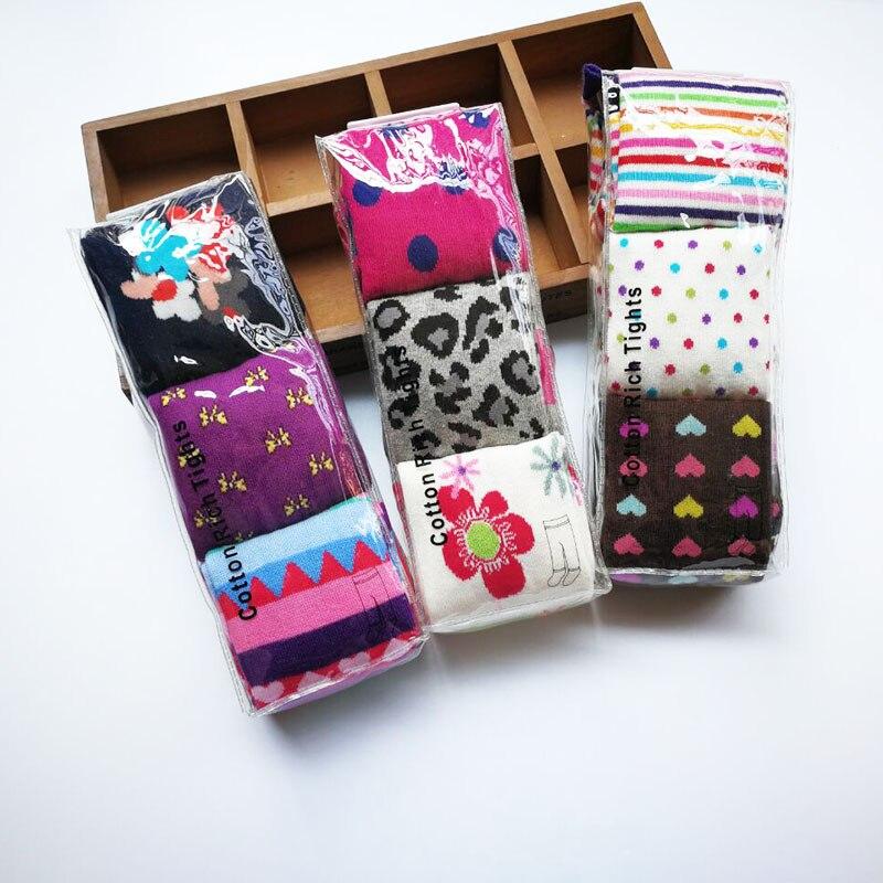 3pairs / Pack 1-8y Baby Pambıqlı külotlu çorap Uşaq - Uşaq geyimləri - Fotoqrafiya 2