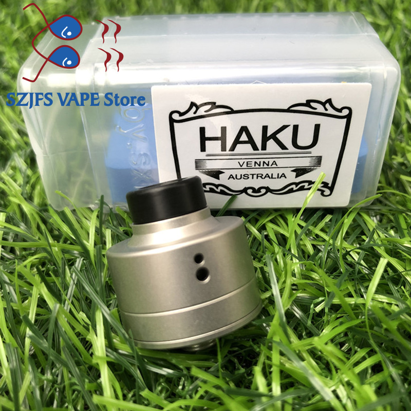 SXK HAKU VENNA rda 316 stainless steel 22mm diameter Tank For510 thread Vaporizer Box Mod Cigarette Electronic Drip Atomizer mtl in Electronic Cigarette Atomizers from Consumer Electronics