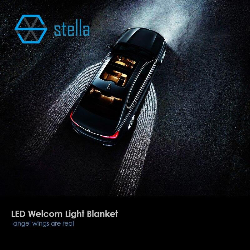 Automobiles LED laser bienvenue lampe lumière couverture s'adapte à toutes les voitures auto LED porte lumière projecteur ombre sous-corps 1 an de garantie