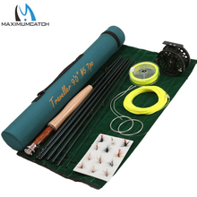 Maximumcatch Fast Action Carbon Fiber Fly Rod 9ft 5wt 7pc ALC5/6wt Fly Reel WF 5F Fly Line And Fly Accessory Fly Fishing Combo