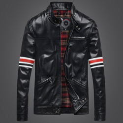 2015 autumn winter men genuine leather jacket men s stand collar slim sheepskin black motorcycle jacket.jpg 250x250