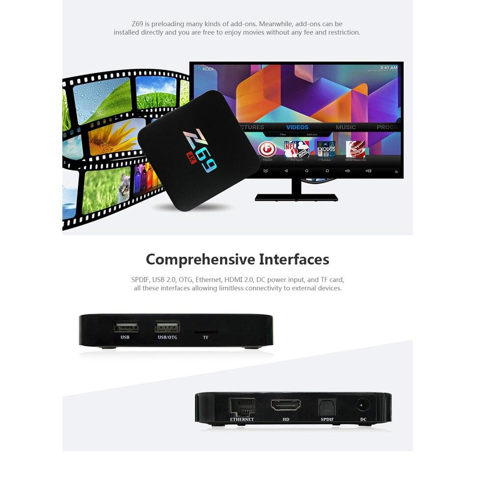 Z69 Android 6.0 TV Box Amlogic S905X 1GB 2GB 16GB Quad Core Smart TV Box HDMI 4K*2K HD Smart Set Top Box Media Player pk A95X