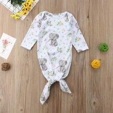 Платье для маленьких девочек с длинными рукавами и Рисунком Слона пеленки с цветами Обёрточная бумага Одеяло наряды