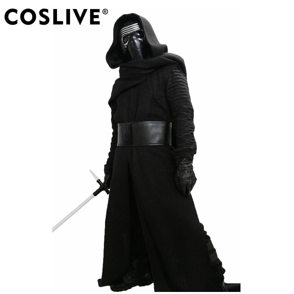 Coslive Dirige Kylo Ren Costume V3 Star Wars The Force Éveille Cosplay Méchant Deluxe Dirige Kylo Ren Cosplay Tenue Terminé Adulte Taille