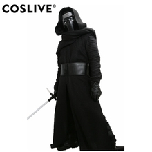 Купить с кэшбэком XCOSER Kylo Ren Costume V3 The Force Awakens Cosplay Villain Deluxe Completed Outfit Adult Size