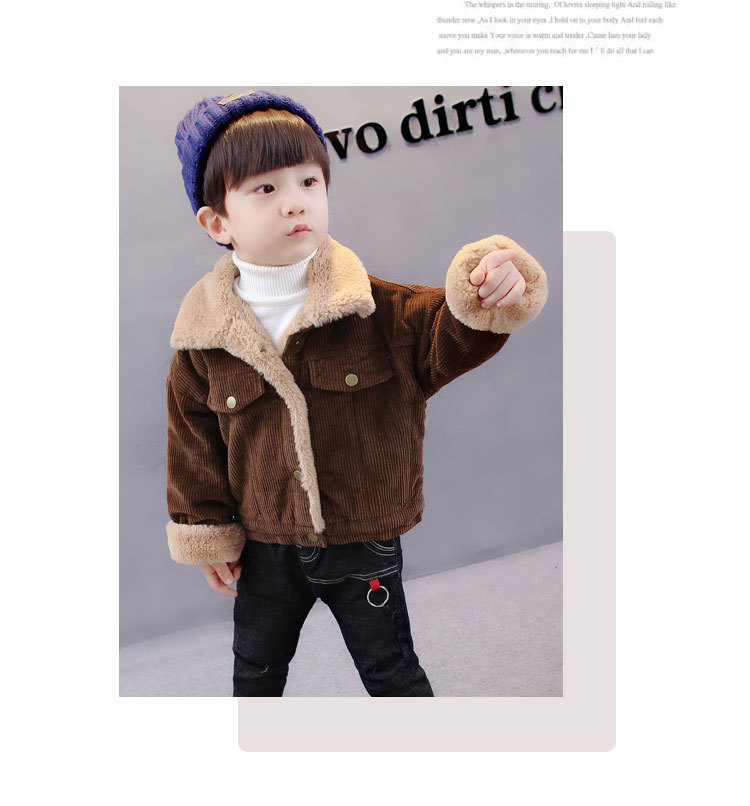 a3812447f774 1-7Years Kids Baby Boys Winter Jacket Corduroy Thick Warm Fleece ...