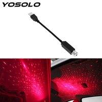 Yoسولو LED سقف السيارة ستار العارض الغلاف الجوي غالاكسي مصباح قابل للتعديل متعددة الإضاءة USB مصباح للزينة زخرفة