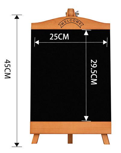 Countertop Blackboard Advertising Poster Display Rack Menu Stand Restaurant Message Board Desktop Table Food Name Display Stand